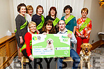 A Cheque for &euro;25,000 from the Tralee Camino Fundraiser 2018 being presented to the Irish Guide Dogs for the Blind at their fundraising dance in the Meadowlands Hotel on Saturday night.<br /> Front l to r: Angela Moloney, Anne Byrnes, Darragh O&rsquo;Cinnede and Hansen (Dog).<br /> Back l to r: Margaret Lyons, Ann Condon, Ann O&rsquo;Riordan, Joan Hill, Josephine Flood, Lou Irwin.