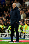Zinedine Zidane coach of Real Madrid during La Liga match between Real Madrid and Real Sociedad at Santiago Bernabeu Stadium in Madrid, Spain. November 23, 2019. (ALTERPHOTOS/A. Perez Meca)