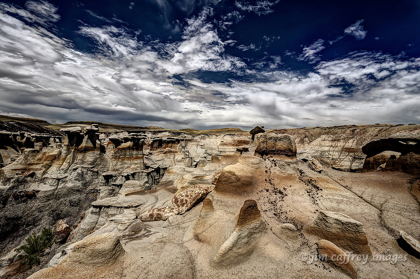 The Brown Hoodoos in a remote section of the Bisti Wilderness in New Mexico's San Juan Basin.