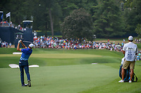 Jordan Spieth (USA) hits his approach shot on 1 during 4th round of the 100th PGA Championship at Bellerive Country Club, St. Louis, Missouri. 8/12/2018.<br /> Picture: Golffile   Ken Murray<br /> <br /> All photo usage must carry mandatory copyright credit (© Golffile   Ken Murray)
