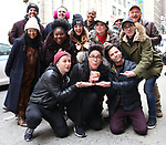 """The Cast of """"Be More Chill"""" during the Theatre Marquee unveiling for """"Be More Chill"""" on January 17, 2019 at the Lyceum Theatre in New York City."""