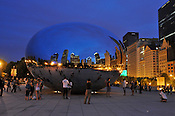 Cloud Gate, Anish Kapoor's stainless steel sculpture in Chicago's Millennium Park. Also known as the bean and probably the most photographed object in the city. Ernie Mastroianni photo