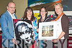 ART: Looking over some art on show at the Manor West Hotel, Tralee on Friday night. l-r: Padraig and Aine Mac Fhearghusa (Tralee),Muiriosa Murphy (Rathmore) Artist) and Marjorie Cunningham (Tralee)..