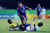 2nd November 2019; Kleber Andrade Stadium, Cariacica, Espirito Santo, Brazil; FIFA U-17 World Cup Brazil 2019, Senegal versus Japan; Pape Dione, Cheikhou Ndiaye of Senegal try to stop the run from Yamato Wakatsuki of Japan