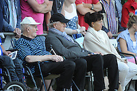 VOETBAL: LANGEZWAAG: Sportpark it Paradyske Langezwaag, 20-07-2013, Oefenwedstrijd SC Heerenveen - AA Gent, Einduitslag 1-1, toeschouwers erevoorzitter Riemer en zijn vrouw Annie van der Velde, ©foto Martin de Jong