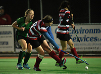 Action from the National Women's Association Under-18 Hockey Tournament match between South Canterbury and Counties Manukau at Twin Turfs in Clareville, New Zealand on Friday, 14 July 2017. Photo: Dave Lintott / lintottphoto.co.nz