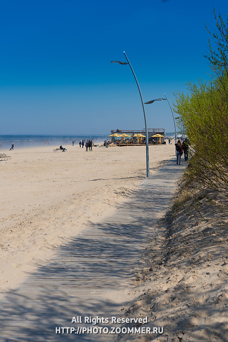 Boardwalk near the beach in Jurmala, Latvia