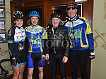 Lizzie McComish, Damien Garry, Jerome Jones and Dave Turner at the annual kevin King Memorial cycle at the Thatch organised by Drogheda Wheelers cycling Club. Photo:Colin Bell/pressphotos.ie
