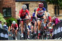 Picture by Alex Whitehead/SWpix.com - 13/05/2018 - British Cycling - HSBC UK National Women's Road Series - Lincoln Grand Prix - Anna Kay of Storey Racing and Jess Roberts of Team Breeze.