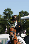 Sam Watson riding Horseware Bushman during day 2 of the dressage phase at the 2012 Land Rover Burghley Horse Trials in Stamford, Lincolnshire,UK.