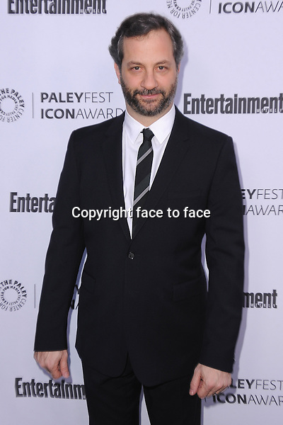 BEVERLY HILLS, CA - MARCH 10:  Judd Apatow arrives at the 2014 PaleyFest Icon Award to Judd_Apatow at the Paley Center for the Media on March 10, 2014 in Beverly Hills, California.<br />