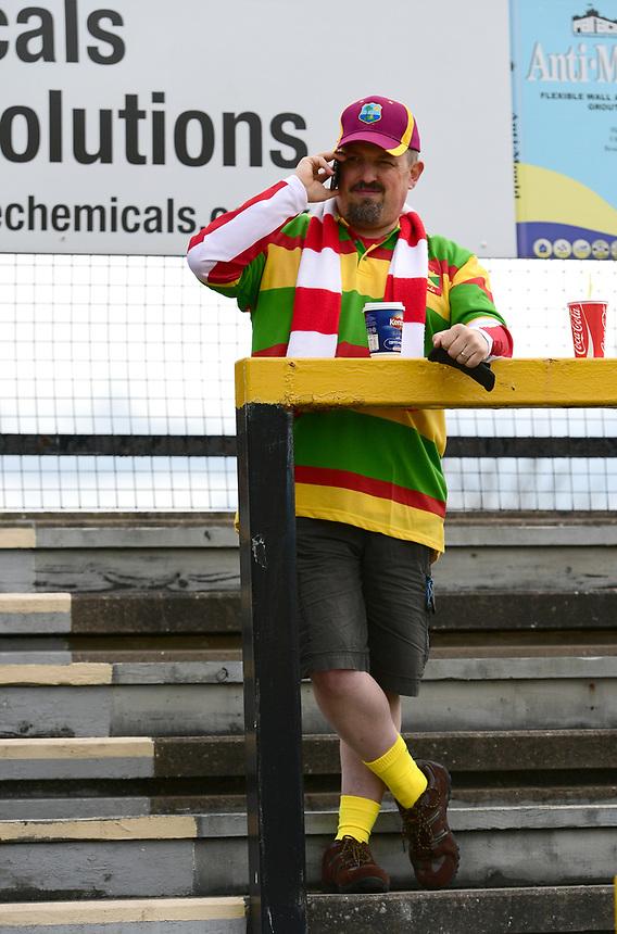 Lincoln City fans before kick off<br /> <br /> Photographer Chris Vaughan/CameraSport<br /> <br /> Vanarama National League - Southport v Lincoln City - Saturday 29th April 2017 - Merseyrail Community Stadium - Southport<br /> <br /> World Copyright &copy; 2017 CameraSport. All rights reserved. 43 Linden Ave. Countesthorpe. Leicester. England. LE8 5PG - Tel: +44 (0) 116 277 4147 - admin@camerasport.com - www.camerasport.com