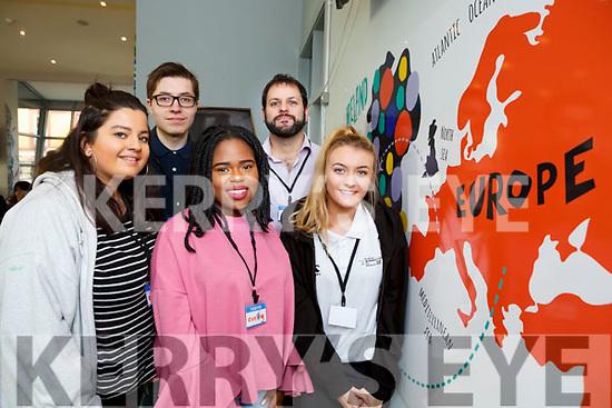 Moya Danton, Cathal doran, Deborah Fakeye, Matt Lent and Nicole Currie  at the Brexit senimar in Killarney KDYS on Thursday