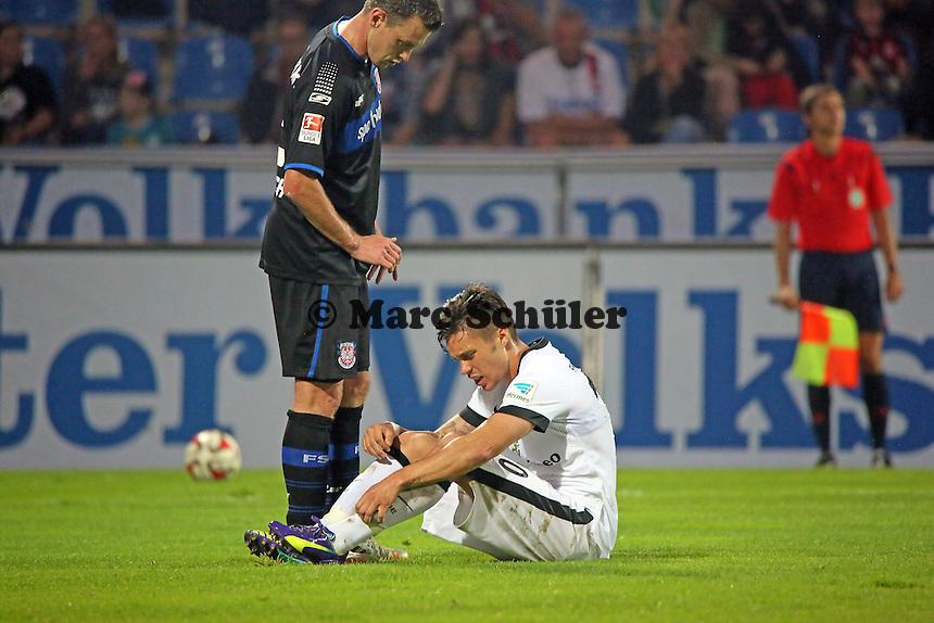 Vaclav Kadlec (Eintracht) hat sich weh getan- FSV Frankfurt vs. Eintracht Frankfurt, Frankfurter Volksbank Stadion