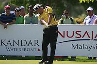 Daniel Chopra (SWE) tees off on the 13th tee during Sundays Final Round 3 of the 54 hole Iskandar Johor Open 2011 at the Horizon Hills Golf Resort Johor, Malaysia, 19th November 2011 (Photo Eoin Clarke/www.golffile.ie)