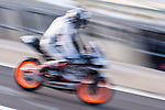 Pit lane at pre season winter test IRTA Moto3 & Moto2 in Valencia