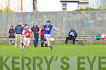 Kerins O'Rahillys John Ferguson gets away from Rathmore Patrick Reen in the Senior County League GAA Football Kerins O'Rahillys against Rathmore at Strand Road on Sunday