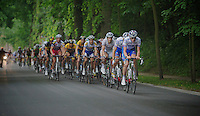 Yoann Offredo (FRA) leading the peloton up the Tiegemberg<br /> <br /> Halle - Ingooigem 2013<br /> 197km