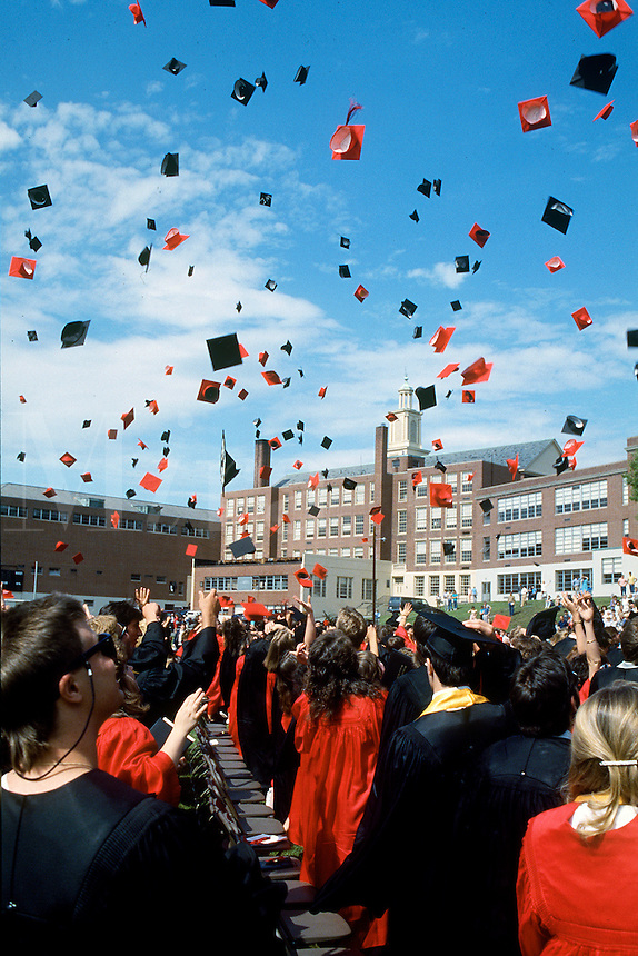 High School Graduation, Woburn, Massachusetts.