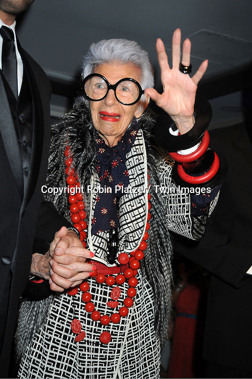 Iris Apfel models in Loehmann's Fashion Show for Fashion's Night Out on September 6, 2012 in New York City.