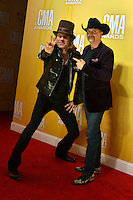 NASHVILLE, TN - NOVEMBER 1: Big and Rich on the Macy's Red Carpet at the 46th Annual CMA Awards at the Bridgestone Arena in Nashville, TN on Nov. 1, 2012. © mpi99/MediaPunch Inc. /NortePhoto .<br />