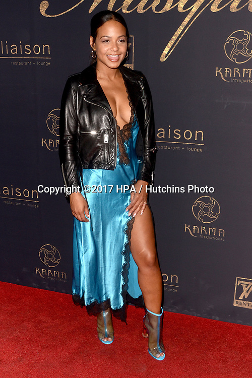 "LOS ANGELES - MAY 20:  Christina Milian at the ""Karma Masquerade"" at the Liaison lounge on May 20, 2017 in Hollywood, CA"
