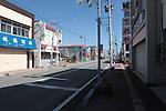 Odaka dans la préfecture de Fukushima, le 11.03.2013.A quinze kilomètres de la centrale nucléaire de Fukushima..Faisant suite à l'important tremblement de terre et du tsunami du 11 mars 2011  la ville d'Odaka  à été évacuée après l'explosion de la centrale nucléaire de Fukushima..© Jean-Patrick Di Silvestro