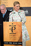 President of Madrid Region, Cristina Cifuentes attends to delivery Paquiro bulls prize at the Ritz Hotel in Madrid. 01 October 2015.<br /> (ALTERPHOTOS/BorjaB.Hojas)