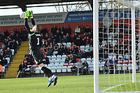 Paul Farman of Stevenage makes a save during Stevenage vs Bury, Sky Bet EFL League 2 Football at the Lamex Stadium on 9th March 2019