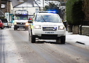 07/12/14<br /> <br /> Police 4x4 on an emergency call-out after heavy snow falls in Buxton in the Derbyshire Peak District .<br /> <br /> ***ANY UK EDITORIAL PRINT USE WILL ATTRACT A MINIMUM FEE OF &pound;130. THIS IS STRICTLY A MINIMUM. USUAL SPACE-RATES WILL APPLY TO IMAGES THAT WOULD NORMALLY ATTRACT A HIGHER FEE . PRICE FOR WEB USE WILL BE NEGOTIATED SEPARATELY***<br /> <br /> <br /> All Rights Reserved - F Stop Press. www.fstoppress.com. Tel: +44 (0)1335 300098