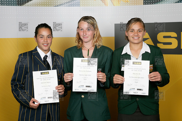 Touch Girls Finalists. ASB College Sport Young Sportsperson of the Year Awards 2006, held at Eden Park on Thursday 16th of November 2006.<br />