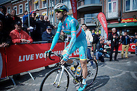 Italian Champion Vincenzo Nibali (ITA/Astana) on his way to sign-in<br /> <br /> 79th Flèche Wallonne 2015