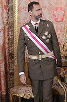 Prince Felipe of Spain attend the traditional 'Pascua Militar' ceremony at The Royal Palace. January 06, 2013. (ALTERPHOTOS/Caro Marin)