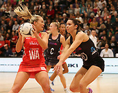 10th September 2017, PG Arena, Napier, New Zealand; Taini Jamison Netball Trophy, New Zealand versus England;  New Zealands Kayla Cullen looks to block Englands Chelsea Pitman