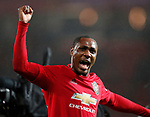 Odion Ighalo of Manchester United celebrates the win  during the Premier League match at Old Trafford, Manchester. Picture date: 8th March 2020. Picture credit should read: Darren Staples/Sportimage