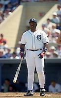 Detroit Tigers Cecil Fielder during Spring Training 1993 at Joker Marchant Stadium in Lakeland, Florida.  (MJA/Four Seam Images)