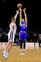 Saints' Tom Abercrombie in action during the NBL- Cigna Saints v Rams at TSB Arena,  Wellington, New Zealand on Sunday 23 June 2019. <br /> Photo by Masanori Udagawa. <br /> www.photowellington.photoshelter.com