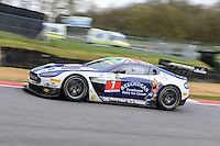 Beechdean AMR British GT Championship car driven by Andrew Howard and Ross Gunn during the British GT Championship Round 1 practice and qualifying at Brands Hatch, Longfield, England on 16 April 2016. Photo by David Horn.