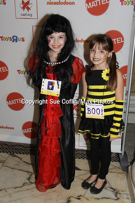 """All My Children Mackenzie Aladjem (C) """"Miranda Montgomery"""" and Nurse Jackie poses with Alex (AMC """"Kathy"""") & Ashley Gerasimovich (Fair Game) at The 9th Annual Dream Halloween New York hosted by Children Affected by Aids Foundation (CAAF) took place at Capitale on Sunday, October 24, 2010 in New York City, NY. Local NY beneficiaries include The Family Center, Bailey House and God's Love We Deliver. (Photo by Sue Coflin/Max Photos)"""