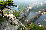 Morning view of Harpers Ferry as viewed from Maryland Heights