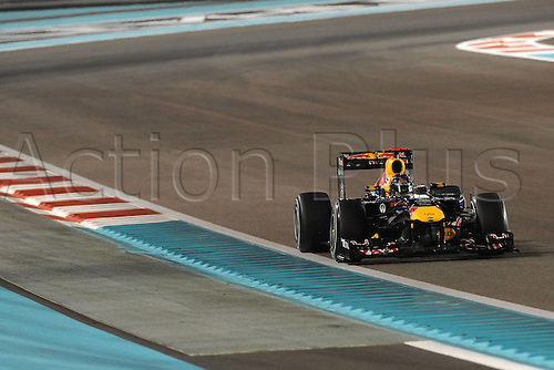 12.11.2011  Abu Dhabi, United Arab Emirates.  Yas Marina Circuit German Sebastian Vettel ON RedBull RB7 Formula 1 Grand Prix of Abu Dhabi, UAE.