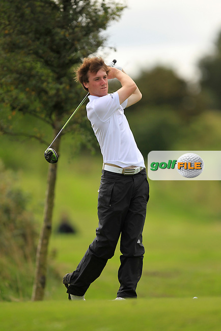 Gareth Lappin (Belvoir Park) on the 8th tee during the Final of the Fred Daly Trophy at Claremorris Golf Club on Tuesday 27th August 2013 <br /> Picture:  Thos Caffrey/ www.golffile.ie