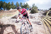 Chelva, SPAIN - MARCH 6: Santiago Ramirez during Spanish Open BTT XCO on March 6, 2016 in Chelva, Spain