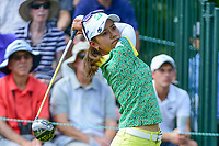 Ai Miyazato (JPN) watches her tee shot on 1 during Saturday's third round of the 72nd U.S. Women's Open Championship, at Trump National Golf Club, Bedminster, New Jersey. 7/15/2017.<br /> Picture: Golffile | Ken Murray<br /> <br /> <br /> All photo usage must carry mandatory copyright credit (&copy; Golffile | Ken Murray)