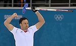 18/02/2014 - Mens Curling - GBR v NOR - Ice Cube curling centre - Olympic park - Sochi - Russia