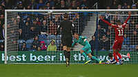 first goal scored for Middlesbrough by Britt Assombalonga of Middlesbrough during Queens Park Rangers vs Middlesbrough, Sky Bet EFL Championship Football at Loftus Road Stadium on 9th November 2019