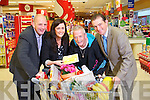 Tady Moriarty winner of the  ?1,000 shopping giveaway prize from Garvey's Suprevalu and Kerry's Eye Newspaper being presented with his prize on Tuesday, from Left: Brendan Kennelly, Marketing Manager Kerry's Eye, Sandra Lynch, Garvey's Tralee, Tady Moriarty, Tralee and Kevin McCarthy Garvey's.