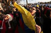 Hinchas colombianos  en los alrededores del Estadio Centenario de Montevideo el 13 de octubre de 2015.<br /> <br /> Foto: Daniel Jayo/Archivolatino<br /> <br /> COPYRIGHT: Archivolatino<br /> Prohibido su uso sin autorizaci&oacute;n.