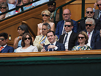 LONDON, ENGLAND - JULY 05: George Osborne at day four of the Wimbledon Tennis Championships at the All England Lawn Tennis and Croquet Club on July 5, 2018 in London, England<br /> <br /> CAP/MPI122<br /> &copy;MPI122/Capital Pictures
