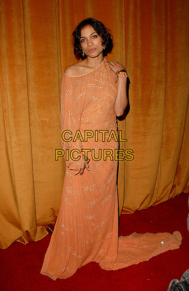 ROSARIO DAWSON.The Weinstein Company 2006 Golden Globe After Party held at Trader Vic's at The Beverly Hilton Hotel in Beverly Hills, California  .January 16th, 2006.Ref: DVS.full length orange peach dress off the shoulder.www.capitalpictures.com.sales@capitalpictures.com.Supplied By Capital PIctures